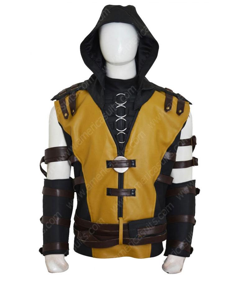 Mortal-Kombat-10-ScorpionYellow-Leather-Jacket-(3)