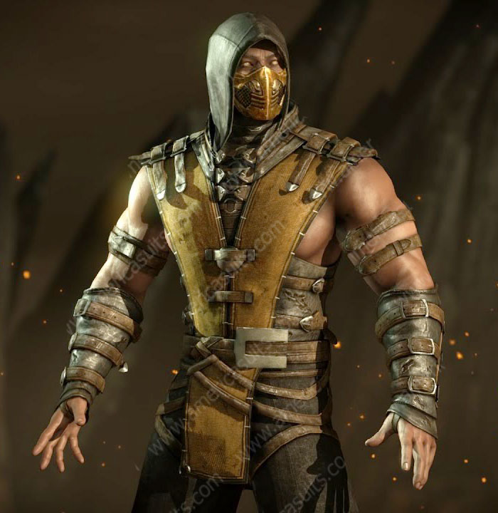 Mortal-Kombat-10-ScorpionYellow-Leather-Jacket-(7)