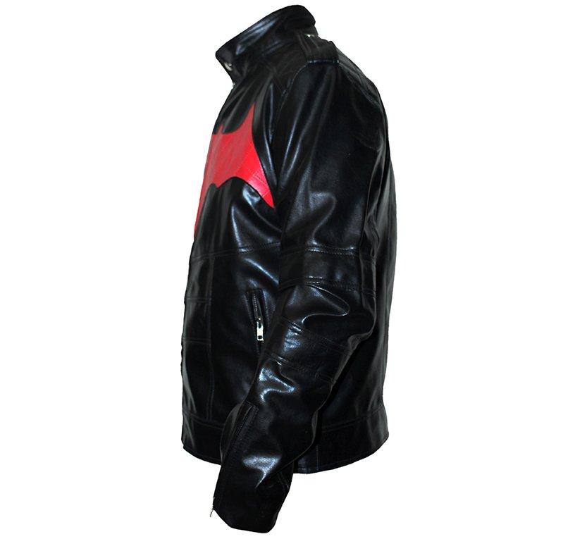 Batman Motorbike Red Leather Jacket