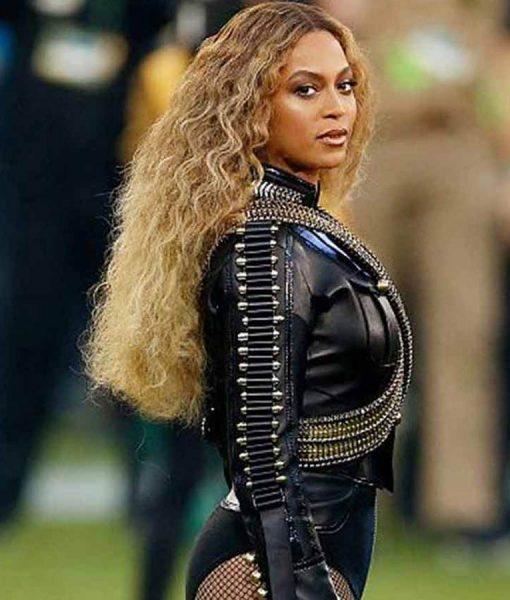 Nfl League Pepsi Super Bowl 50 Halftime Show Beyonce Military Jacket