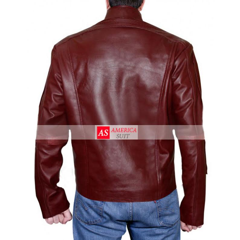 Starlord Peter Quill Red Leather Jacket