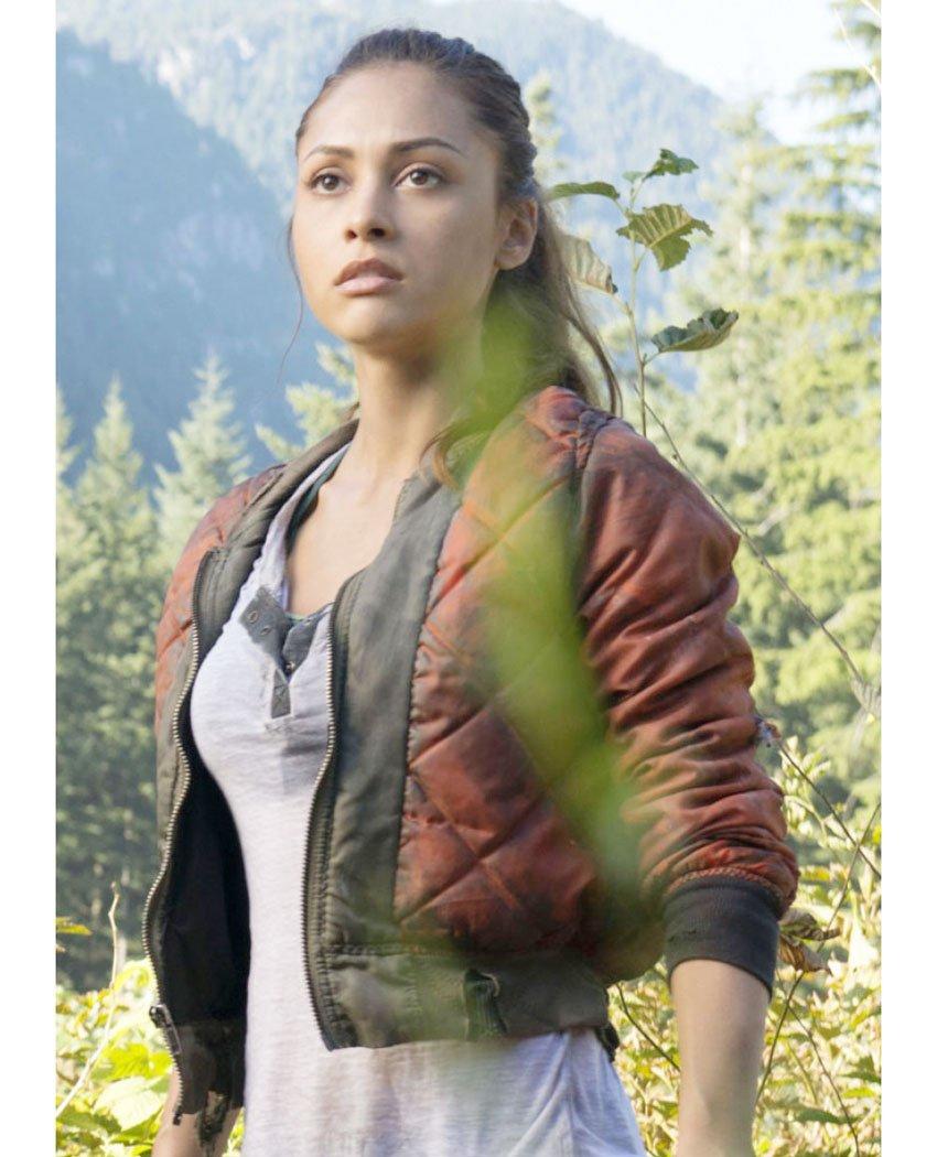 The 100 TV Series Raven Reyes Red Jacket