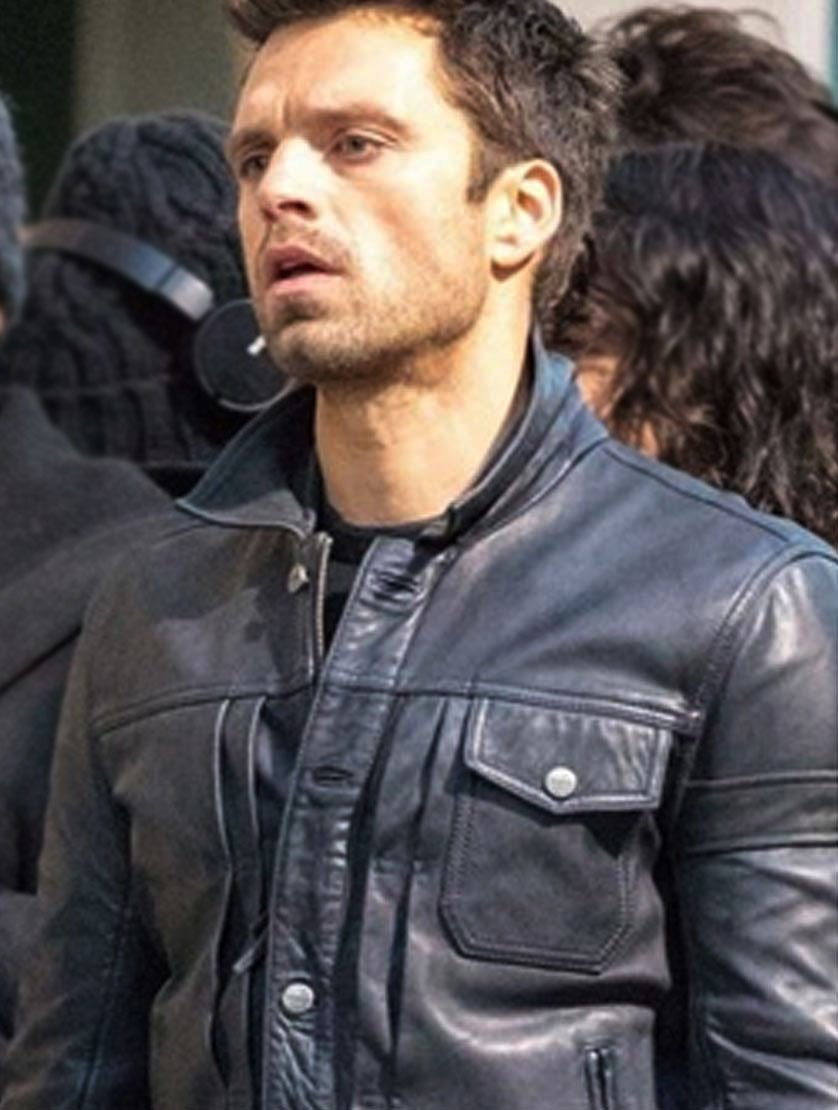 Sebastian Stan Falcon and the Winter Soldier Jacket