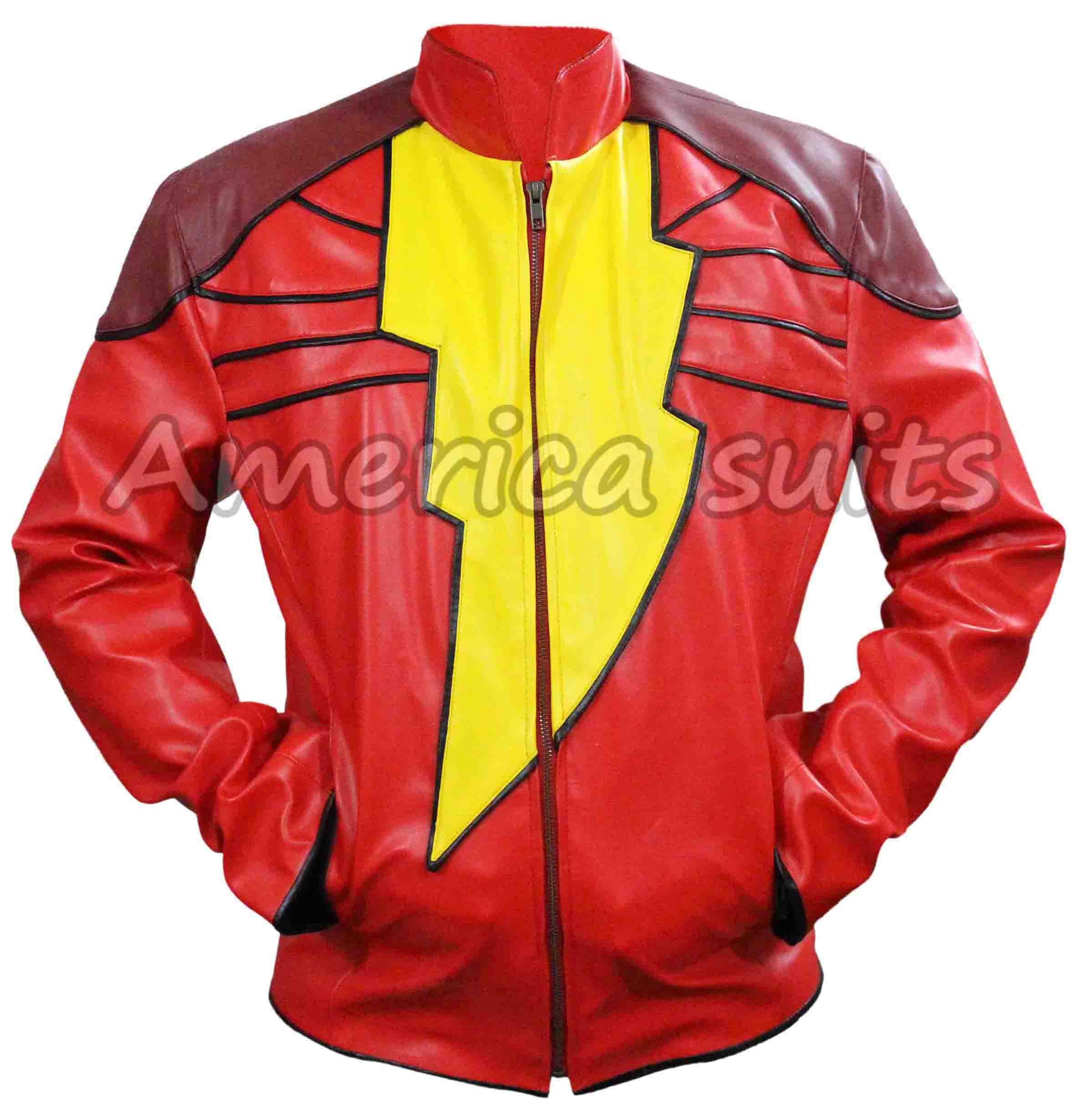 shazam-red-leather-jacket
