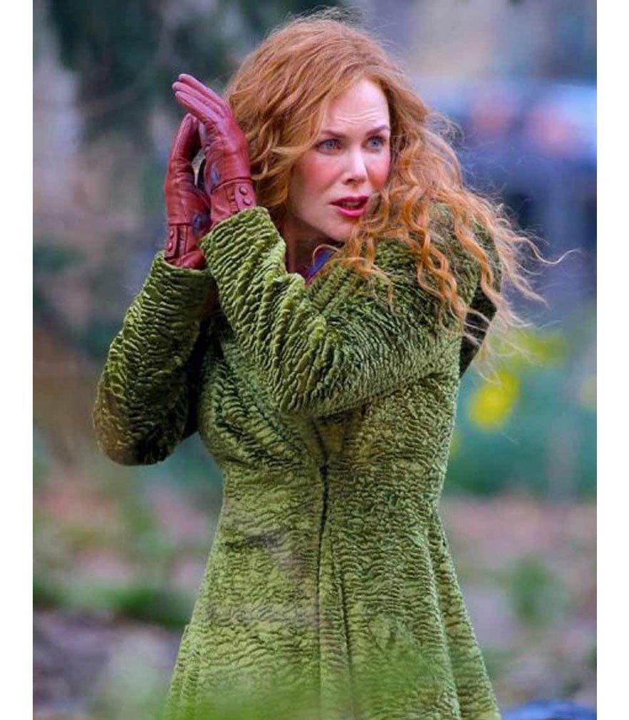 The Undoing Grace Sachs Green Long Trench Coat
