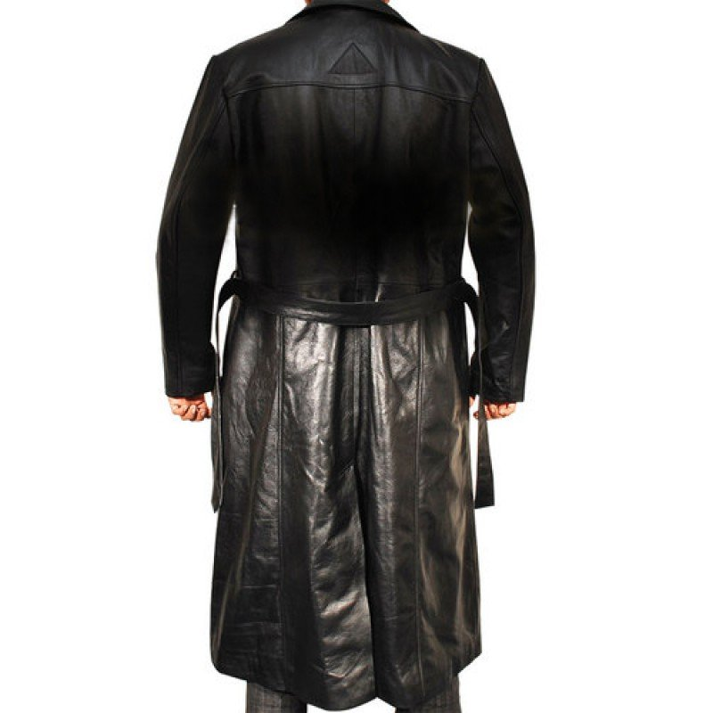 New Wesley Snipes Blade Leather Trench Coat