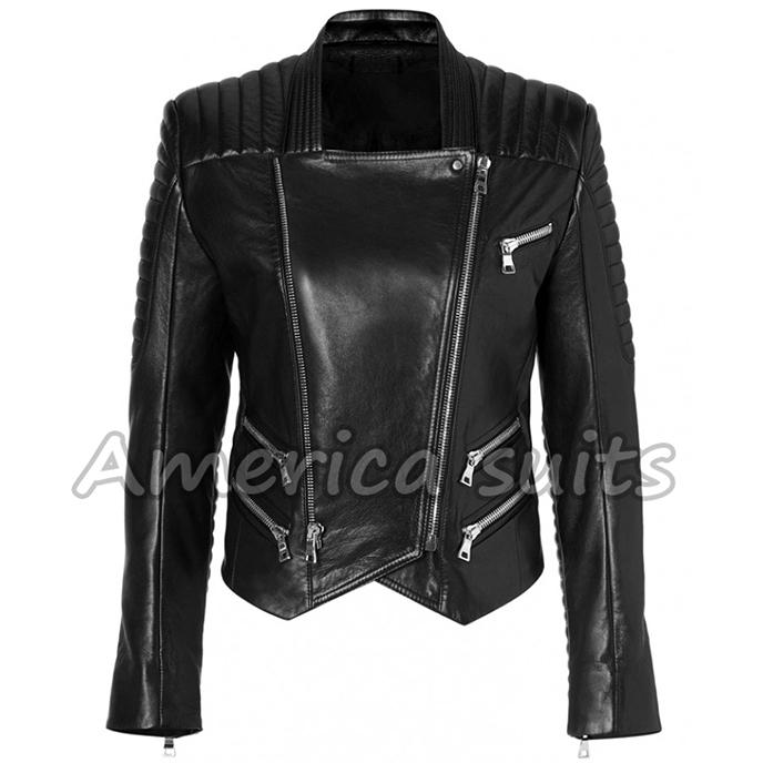 biker leather jacket for women