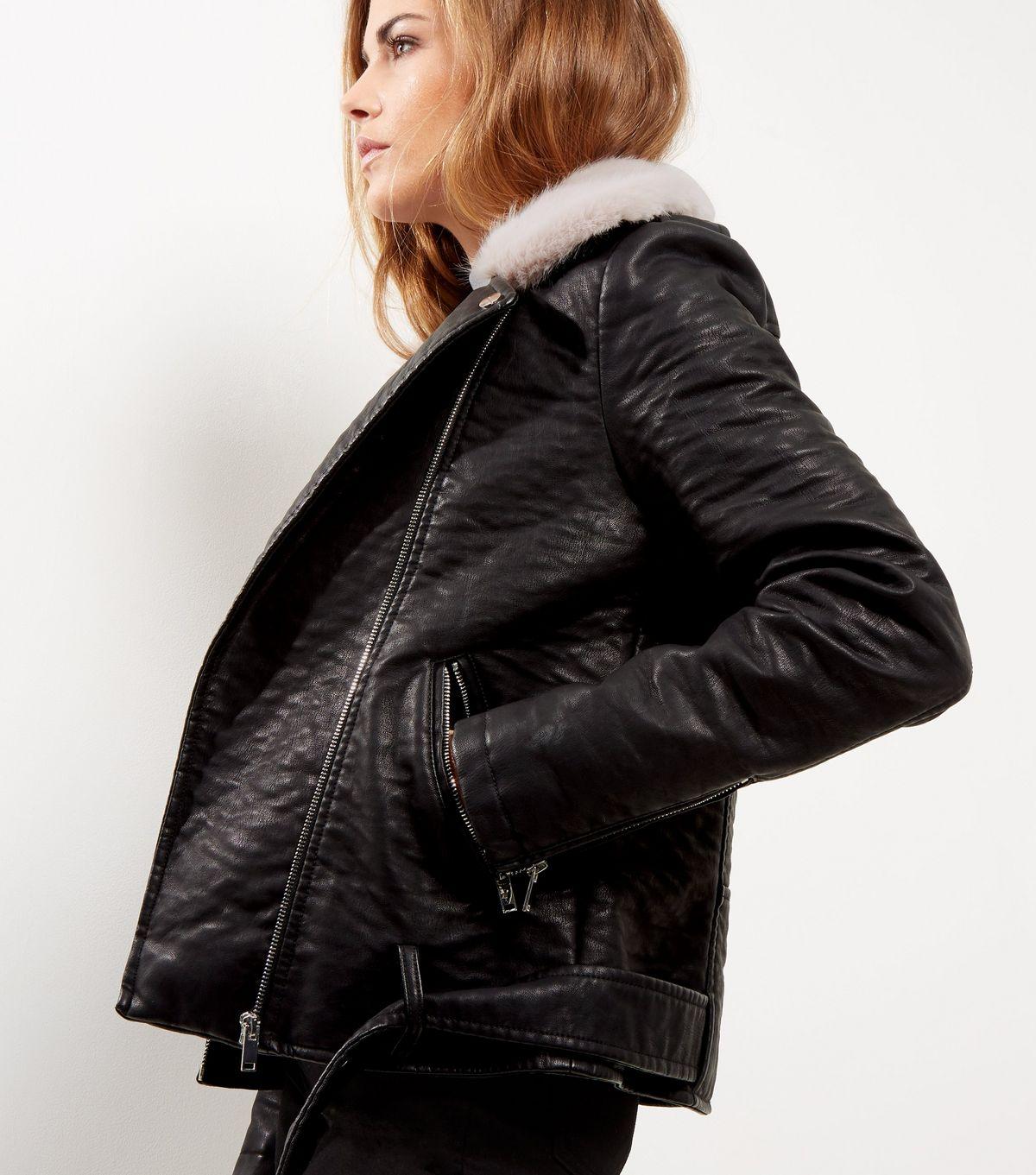 Ladies Leather Bomber Jacket