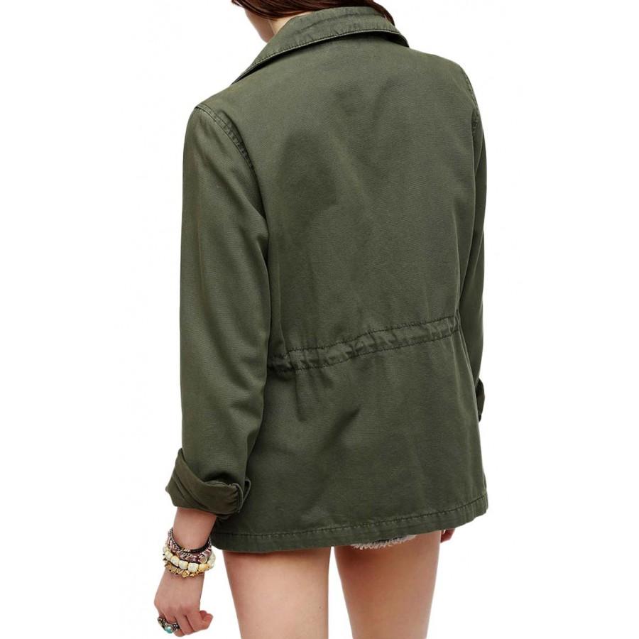 Green Military Jacket Women