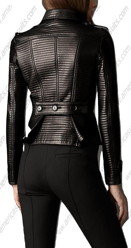 Women Sexy Slim Fit Black Leather Jacket