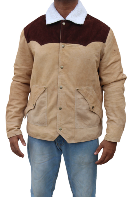 Yellowstone S03 Kevin Costner John Dutton Shearling Jacket