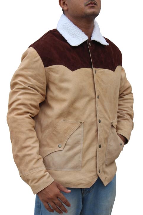 Kevin Costner Shearling Jacket