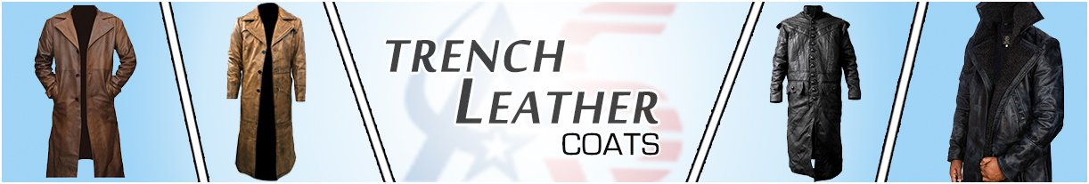 Men Leather Trench Coats